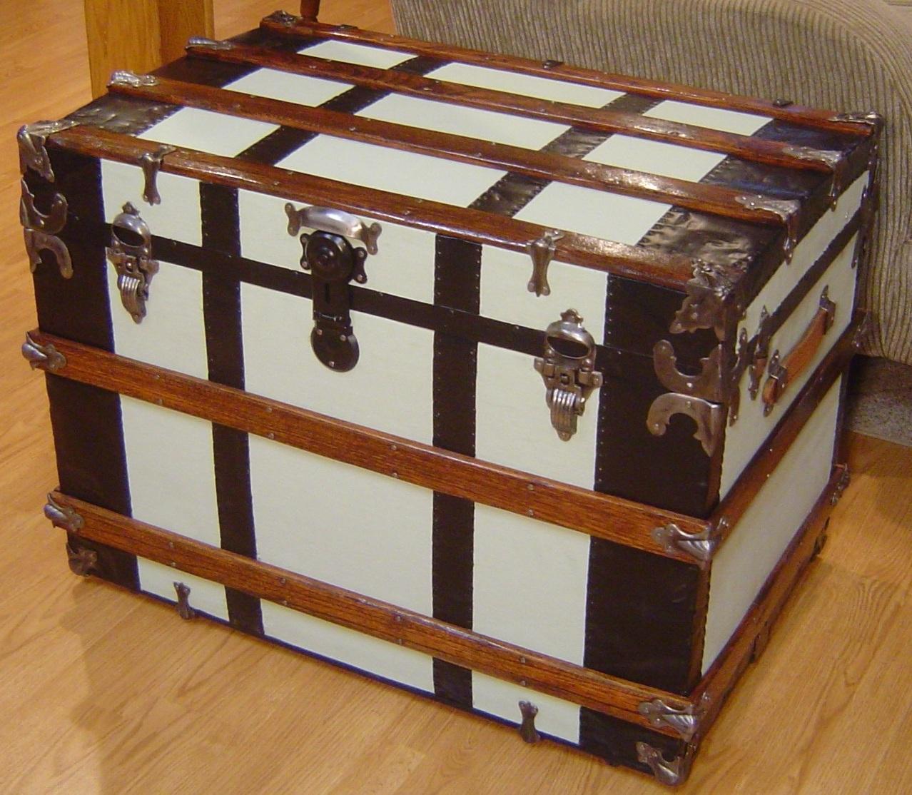 Antique trunk restoration - Shenandoah Restoration - Trunk Hardware, Trunk Restorers