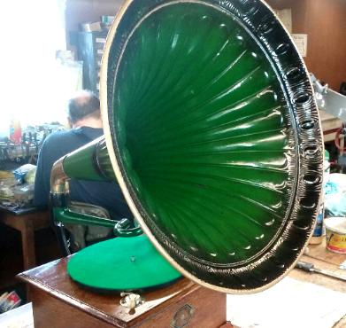 Green painted horn
